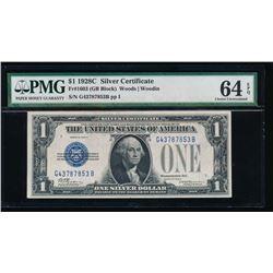1928C $1 Silver Certificate PMG 64EPQ
