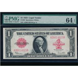 1923 $1 Legal Tender Note PMG 64EPQ