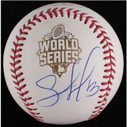 Salvador Perez Signed 2015 World Series Baseball (MLB Hologram)