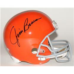 Jim Brown Signed Browns Full-Size Helmet (Fanatics Hologram)