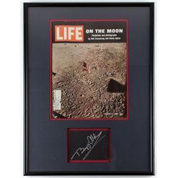 Buzz Aldrin Signed 18x24 Framed Cut Display (JSA ALOA)