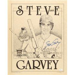 Steve Garvey Signed LE Dodgers 16x20 Lithograph #85/500 (JSA COA)