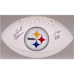 "Jack Ham Signed Steelers Logo Football Inscribed ""HOF 88"" (JSA COA)"