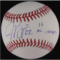 """Jason Kipnis Signed OML Baseball Inscribed """"16 AL Champs"""" (MLB Hologram)"""