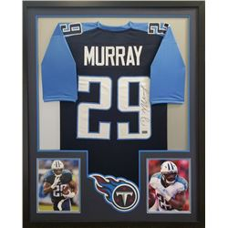 DeMarco Murray Signed 34x42 Custom Framed Jersey (Radtke COA)