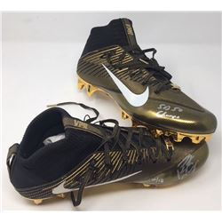 """Peyton Manning Signed Limited Edition Pair of Nike Cleats Inscribed """"SB 50 Champs"""" (Fanatics Hologra"""