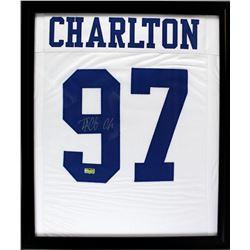 Taco Charlton Signed 23x27 Custom Framed Jersey (Radtke COA)