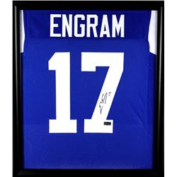 Evan Engram Signed 23x27 Custom Framed Jersey Display (Radtke COA)