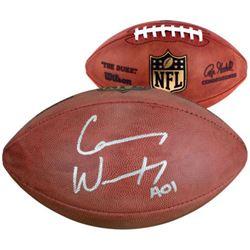 """Carson Wentz Signed """"The Duke"""" Official NFL Game Ball Inscribed """"AO1"""" (Fanatics Hologram)"""