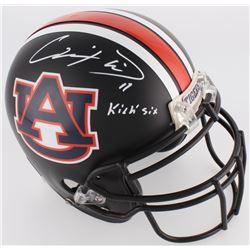 "Chris Davis Jr. Signed Auburn Tigers Full-Size Black Matte Authentic On-Field Helmet Inscribed ""Kick"