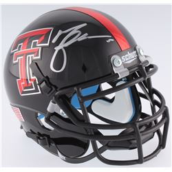 Michael Crabtree Signed Texas Tech Red Raiders Mini-Helmet (JSA COA)