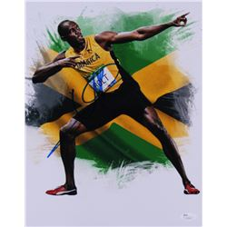 Usain Bolt Signed Team Jamaica 11x14 Photo (JSA COA)