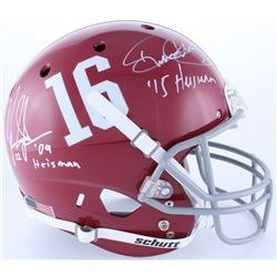 "Mark Ingram  Derrick Henry Signed Alabama Crimson Tide Full-Size Helmet Inscribed ""'09 Heisman""  ""'1"