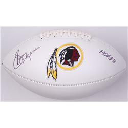 """Sonny Jurgensen Signed Redskins Logo Football Inscribed """"HOF 83"""" (JSA COA)"""