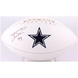 Tyron Smith Signed Cowboys Logo Football (JSA COA)