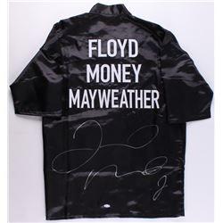 Floyd Mayweather Jr. Signed Boxing Robe (Beckett COA)
