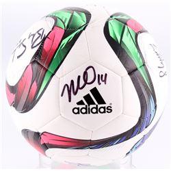Soccer Ball signed by (9) Becky Sauerbrunn, Carli Lloyd, Kelley O'Hara, Shannon Boxx (JSA COA)