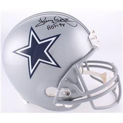 "Tony Dorsett Signed Cowboys Full-Size Helmet Inscribed ""HOF 94"" (Radtke COA)"
