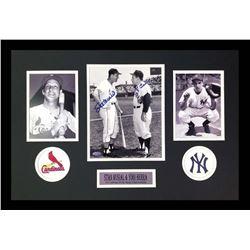 Yogi Berra  Stan Musial Signed 16x26 Custom Framed Photo Display (Steiner Hologram)