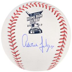 Aaron Judge Signed 2017 Home Run Derby Baseball (Fanatics Hologram)
