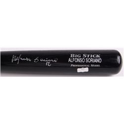 Alfonso Soriano Signed Rawlings Big Stick Adirondack Pro Custom Engraved Baseball Bat (Radtke Hologr