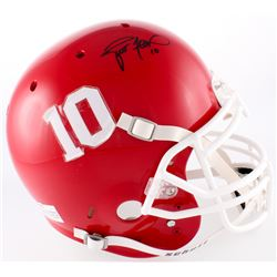 Brett Favre Signed Hancock North Central High School Hawks Full-Size Helmet (Favre COA)