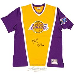"Kobe Bryant Signed LE Lakers Shooting Shirt Inscribed ""97 Dunk Champ"" (Panini COA)"
