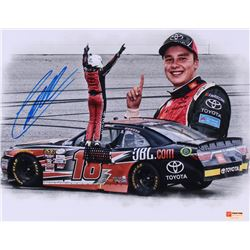 Christopher Bell Signed 2017 Kansas Win 11x14 Photo (PA COA)