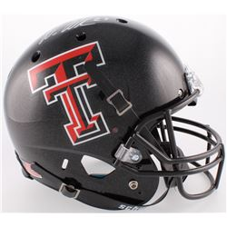 Wes Welker Signed Texas Tech Red Raiders Full-Size Helmet (Fanatics Hologram)