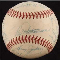 1958 Cardinals ONL Baseball Team Signed by (20) with Hoyt Wilhelm, Stan Hack, Wally Moon, Stan Musia