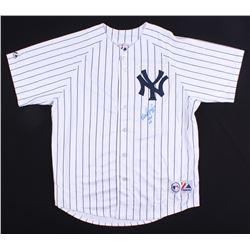 "Wade Boggs  Signed Yankees Jersey Inscribed ""HOF 05"" (Beckett COA  Boggs Hologram)"