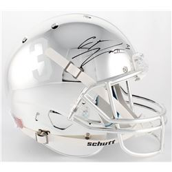 Calvin Ridley Signed Alabama Crimson Tide Full-Size Custom Chrome Helmet (Radtke COA  Ridley Hologra