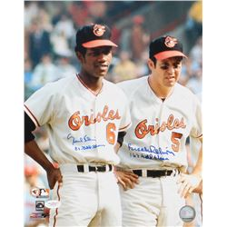 """Brooks Robinson  Paul Blair Signed Orioles 11x14 Photo Inscribed """"8x Gold Glove""""  """"16x Gold Glove"""" ("""