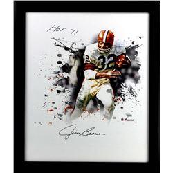 "Jim Brown Signed Browns 20x24 Custom Framed Photo Display Inscribed ""HOF 71"" (Fanatics)"