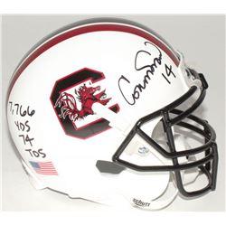 "Connor Shaw Signed South Carolina Gamecocks Mini-Helmet Inscribed ""7,766 Yds 74 Tds"" (Radtke COA)"