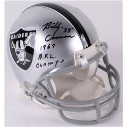 """Billy Cannon Signed Raiders Throwback Mini-Helmet Inscribed """"1967 A.F.L. Champs"""" (Radtke COA)"""