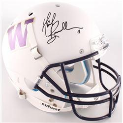 Mark Brunell Signed Washington Huskies Full-Size Custom Matte White Helmet (Radtke COA)
