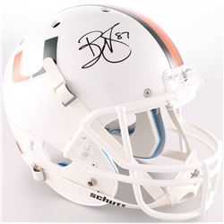 Reggie Wayne Signed Miami Hurricanes Full-Size Helmet (Radtke COA)