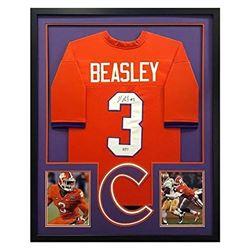 Vic Beasley Signed 34x42 Custom Framed Jersey (Radtke COA)