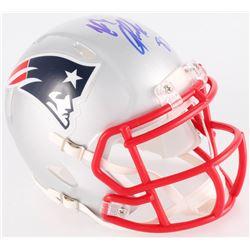Rob Gronkowski Signed Patriots Mini Speed Helmet (Radtke COA)