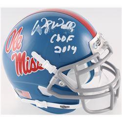 "Wesley Walls Signed Ole Miss Rebels Mini Helmet Inscribed ""CHOF 2014"" (Radtke COA)"