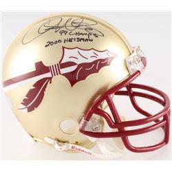 """Chris Weinke Signed Florida State Mini-Helmet Inscribed """"99 Champs""""  """"2000 Heisman"""" (Radtke COA)"""