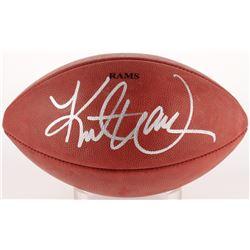 """Kurt Warner Signed """"The Duke"""" Official Rams NFL Game Ball (Radtke COA  Warner Hologram)"""