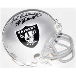 "Fred Biletnikoff Signed Raiders Mini Helmet Inscribed ""SB XI MVP"" (Radtke COA)"