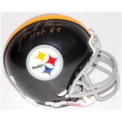"""Jack Ham Signed Steelers Mini-Helmet Inscribed """"HOF 88"""" (Radtke Hologram)"""