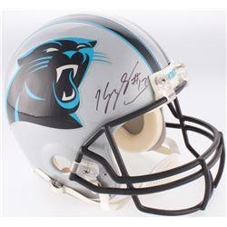 Kelvin Benjamin Signed Panthers Authentic On-Field Helmet (Radtke COA)