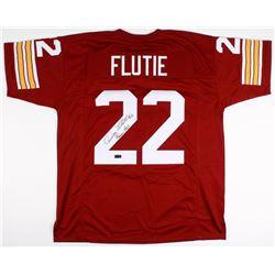 """Doug Flutie Signed Jersey Inscribed """"Heisman 84"""" (Radtke COA)"""