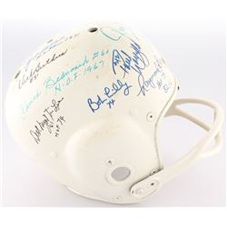 Vintage Full-Size Authentic On-Field Helmet Signed by (15) Football Hall of Famers Including Steve V