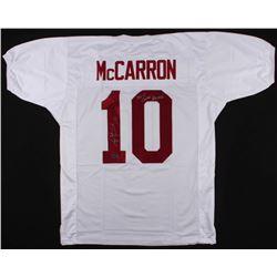 "AJ McCarron Signed Jersey Inscribed ""36-4 Career Record"" (McCarron Hologram)"