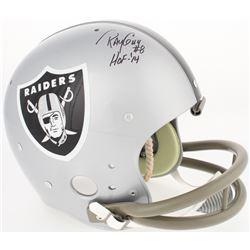 "Ray Guy Signed Raiders Full-Size TK Suspension Helmet Inscribed ""HOF-14"" (JSA COA)"